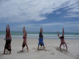 Group handstand